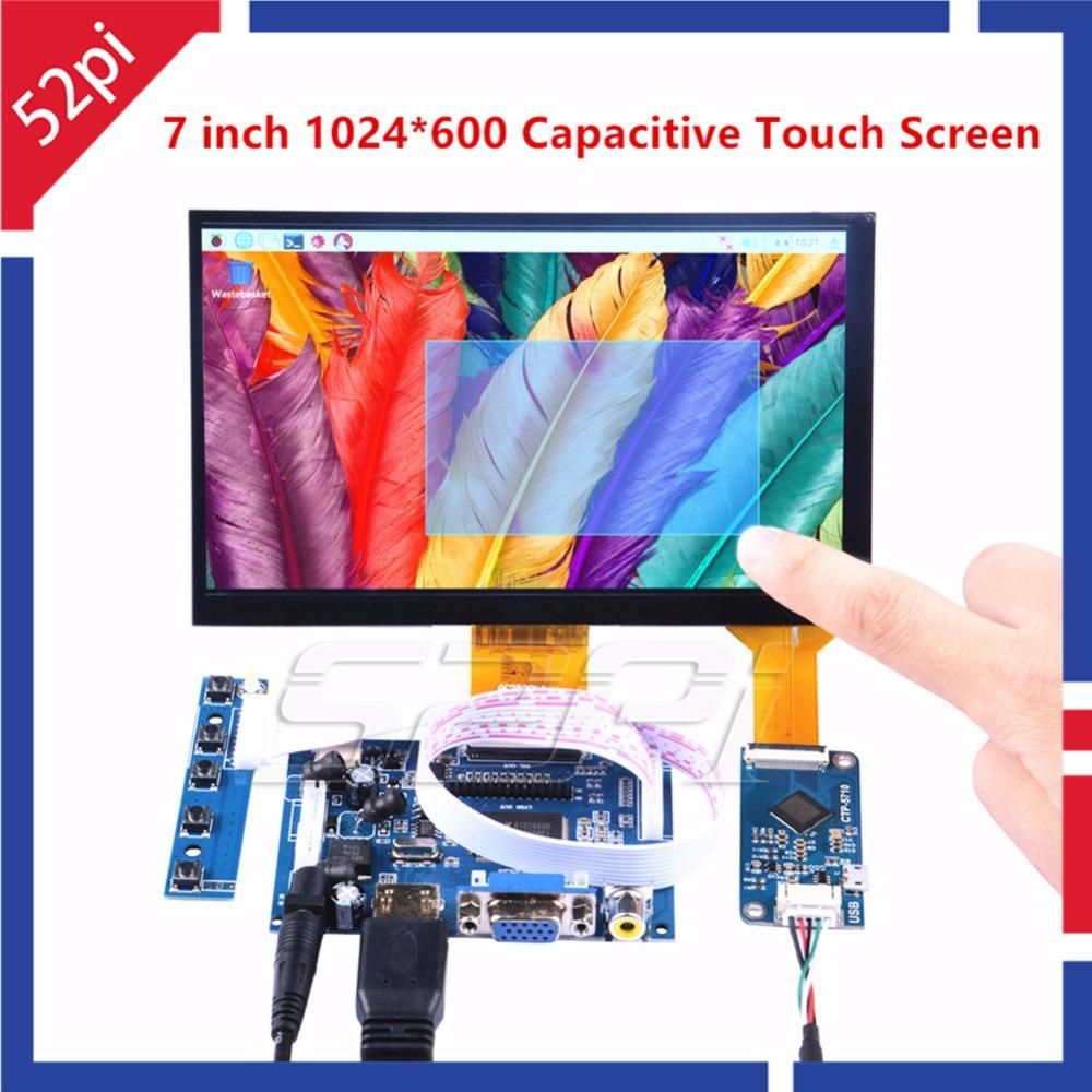 52pi 7 Inch 1024 600 Free Driver Display Capacitive Touch Screen