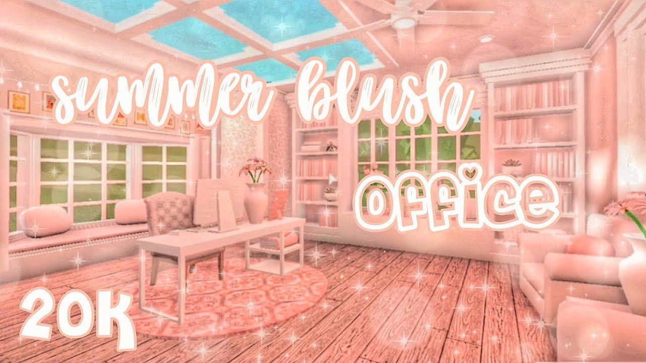 Blush Summer Office Welcome To Bloxburg Speedbuild Diy House Plans Simple Bedroom Design Blush Bathroom Living room bloxburg blush