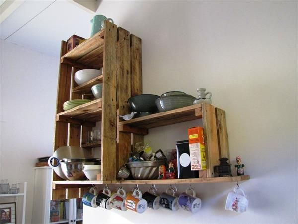 Kitchen Cabinets From Pallets diy recycled pallet kitchen cabinet | pallet kitchen cabinets
