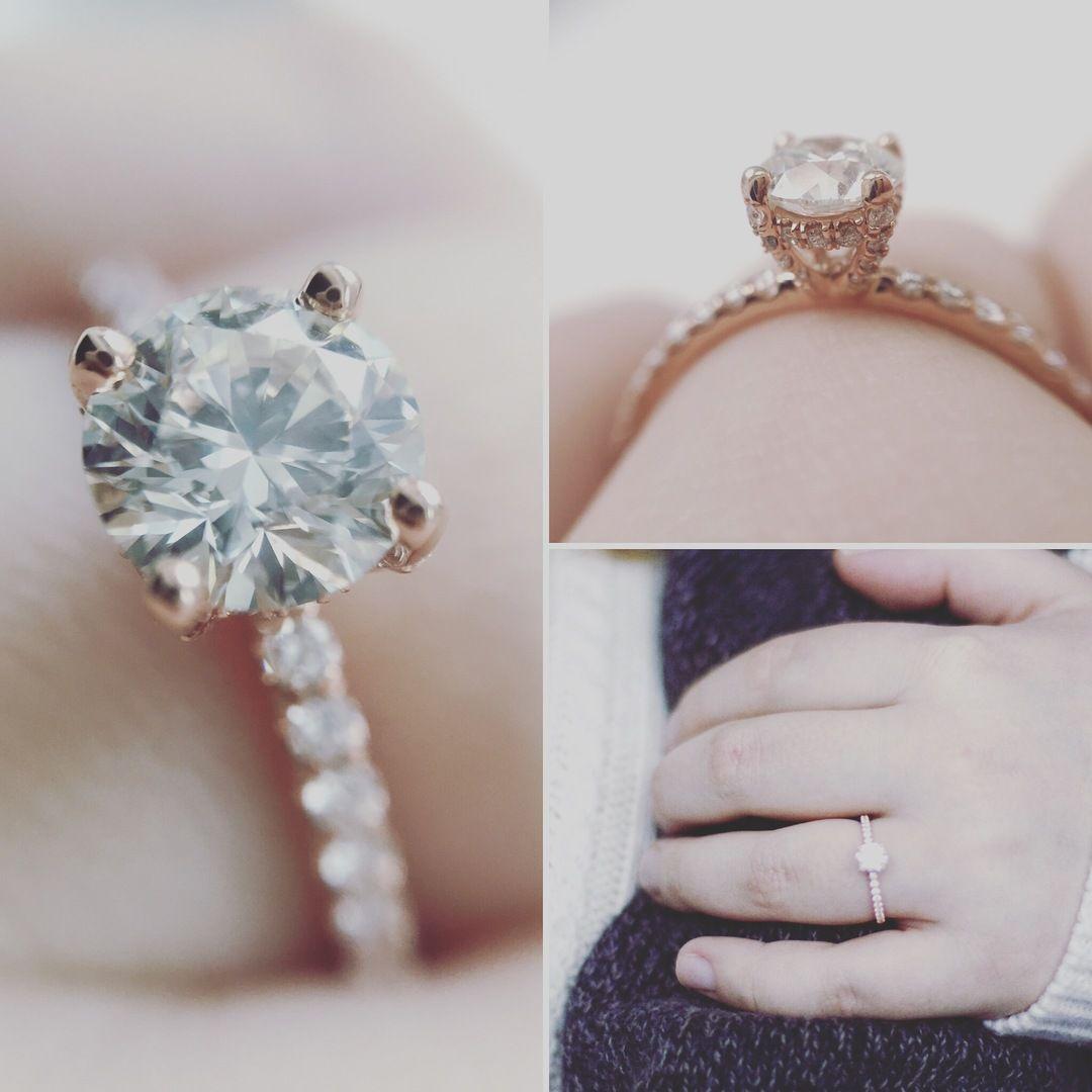 14k Rose Gold Petite Pave Crown Diamond Engagement Ring A Vibrant Pave Set Diamond Crown Featurin Crown Engagement Ring Fancy Shape Diamond Engagement Rings