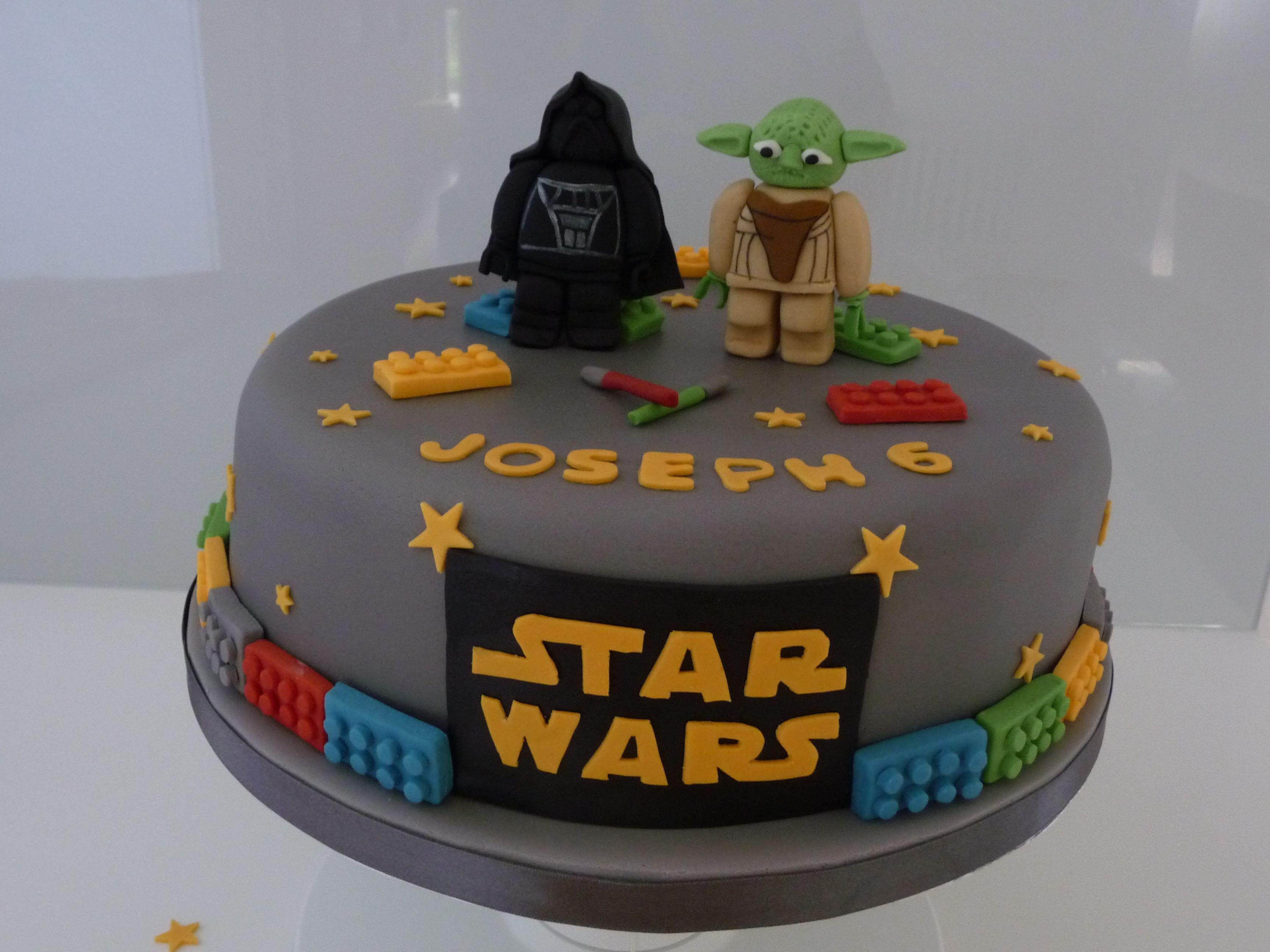 Star Wars Lego Cake Star Wars Birthday Cake Disney Birthday Cakes