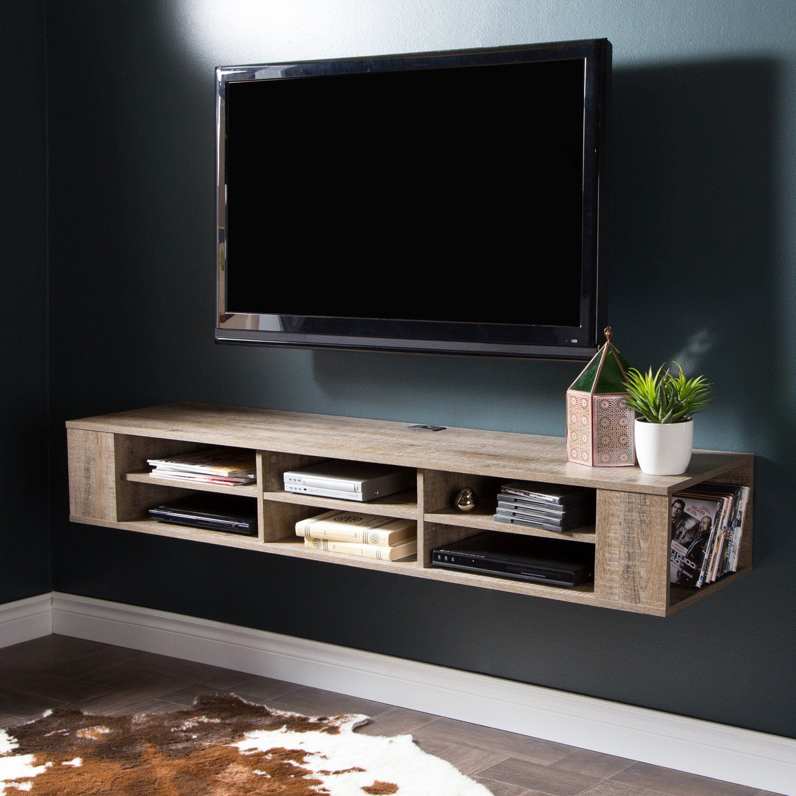 Shore City Life 48 in. Wall Mounted Media Console - 9062675