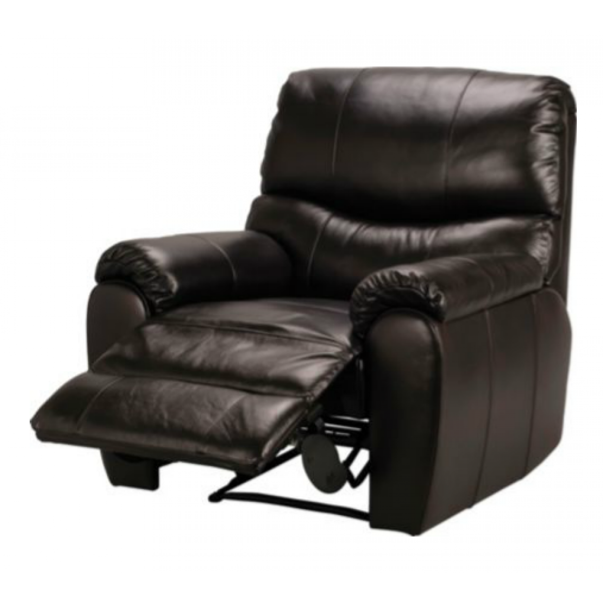 Leather Reclining Chair Black Leather Recliner Chair Table And Chairs Leather