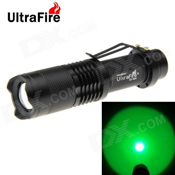 UltraFire 180lm XP-E Green Light 5-mode Zoomable LED Flashlight - Black. Note: We are currently unable to ship to addresses in HongKong, mainland of China.. Tags: #Lights #Lighting #Flashlights #LED #Flashlights #18650 #Flashlights