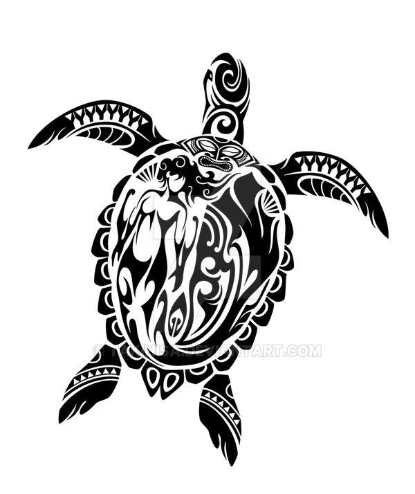 Tribal sea turtle. Toned Maori style, I tried to draw to