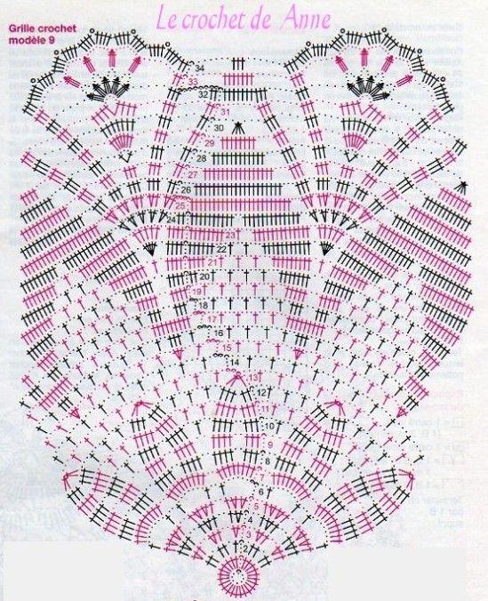 grille-napperon-aux-arceaux-13.jpg (549×676) | Crochet Doilies ...