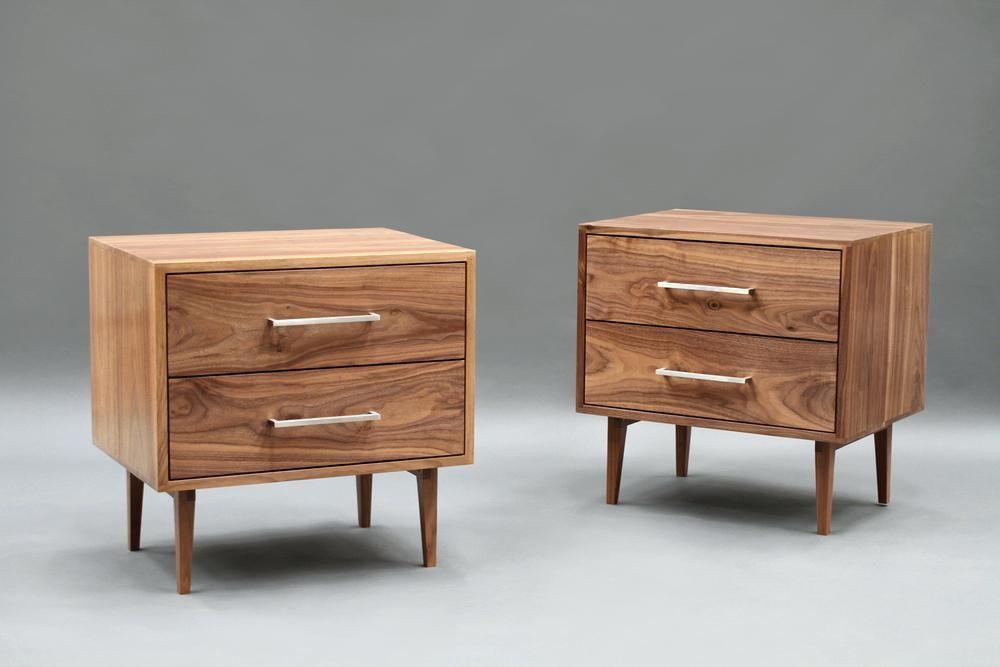Modern Wood Bedside Tables Mid Century Modern Bedside Table Wood