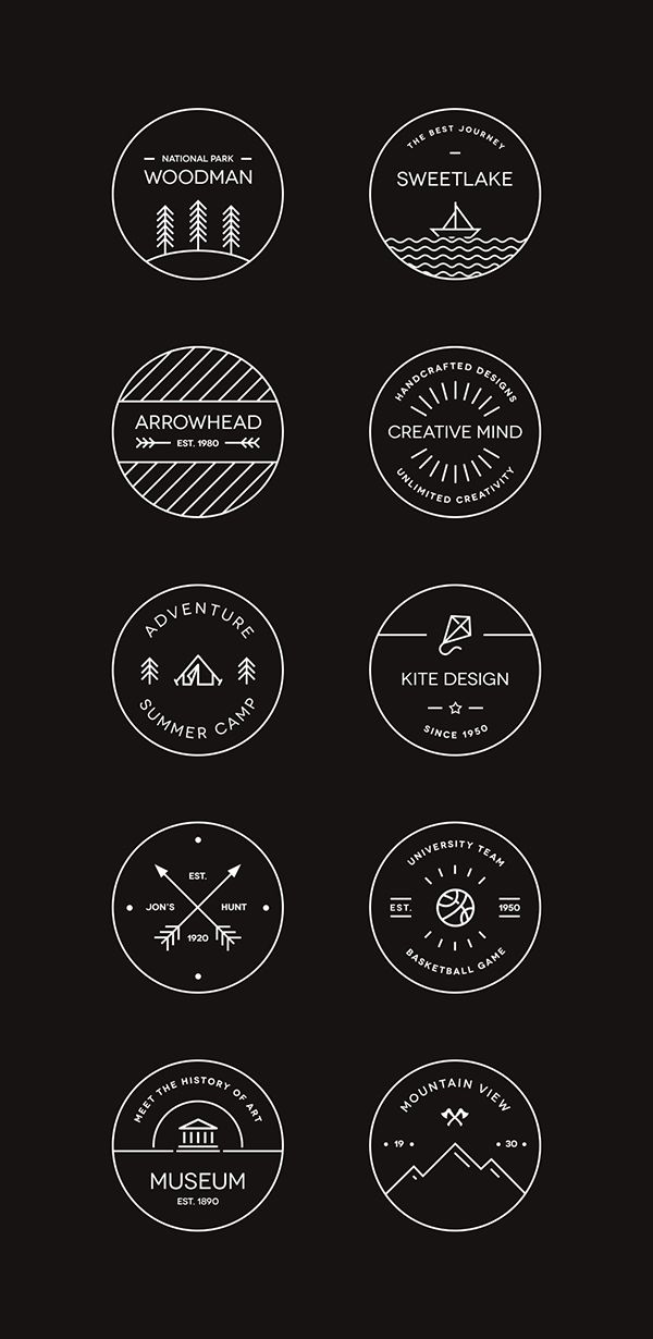 10 Vector Badge Templates For Designing Logosfree Graphic