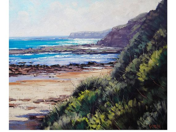 BEACH PAINTING Seascape Oil Painting Realistc Artwork by