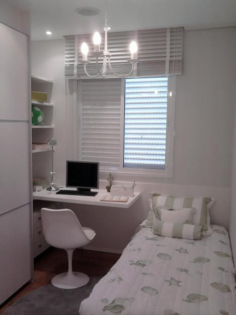 Small Spaces Single Bedroom Decoracao Quarto Pequeno Projeto