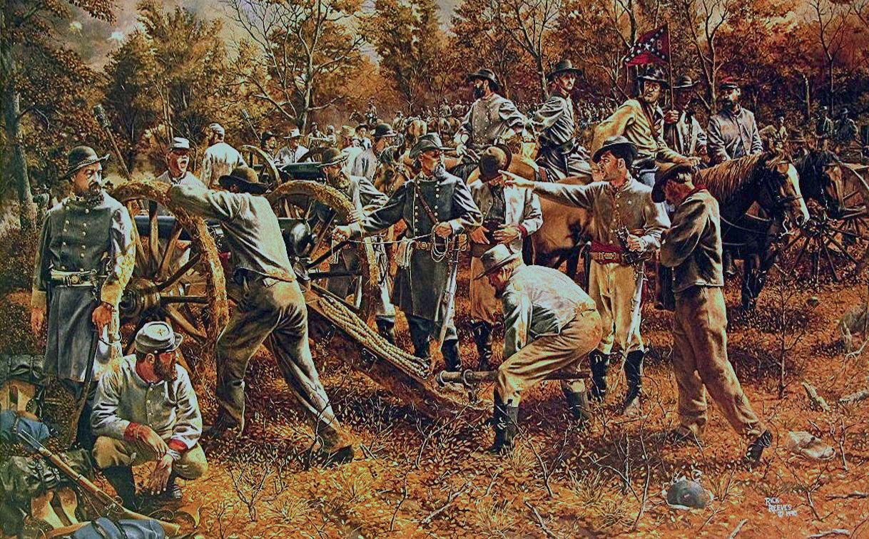 ACW Confederate: General Nathan Bedford Forrest with Morton's Battery at…