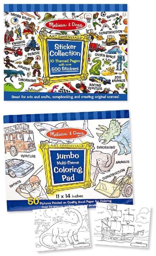 Melissa and Doug Multi-Theme Coloring & Sticker Pad Bundle ...