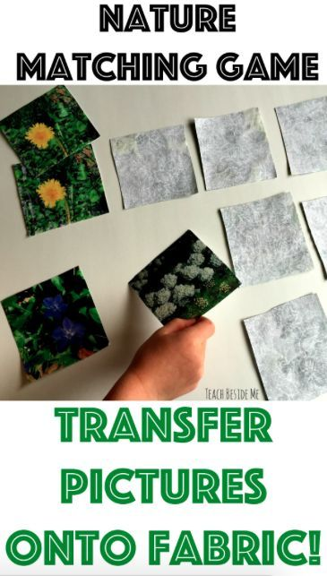 Fabric Printed Nature Matching Game - Teach Beside Me