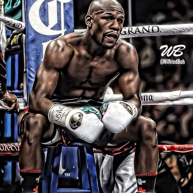 FLOYD MAYWEATHER Poster Fight Art Print Vintage Classic Boxing Canvas Sticker B