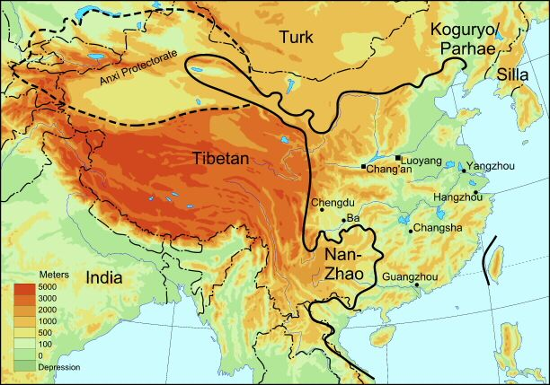 Carte Dynastie Des Tang Carte Chine