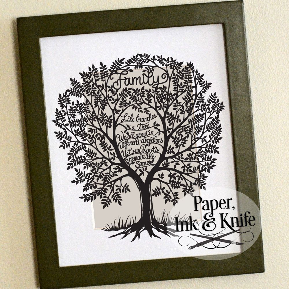 Paper Cut Family Tree Template Forteforic