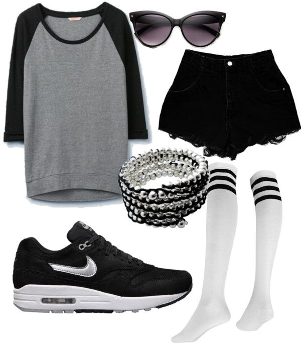 Casual Summer Outfit For The More Tomboy Girl By Ellashaw Liked On Polyvore
