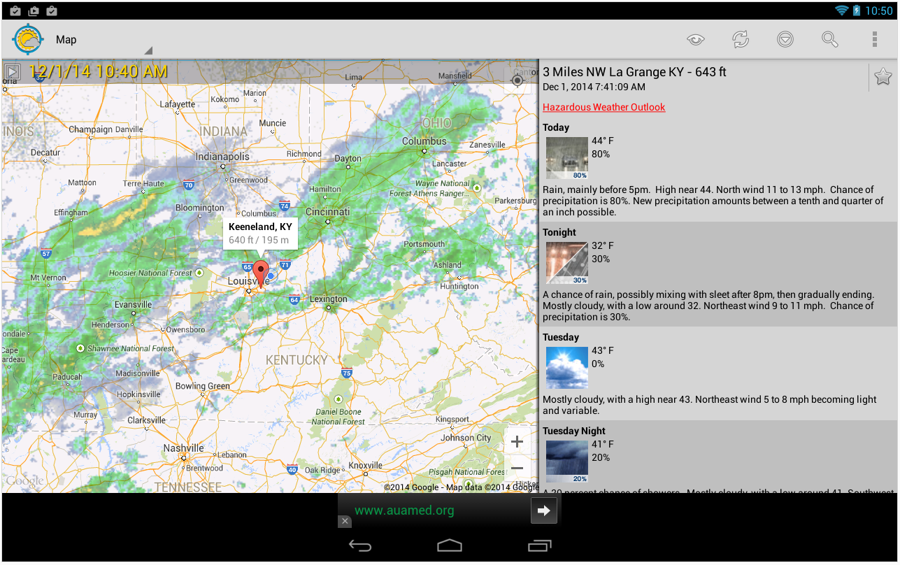 Unofficial NOAA Weather For Android Daily App Pick App