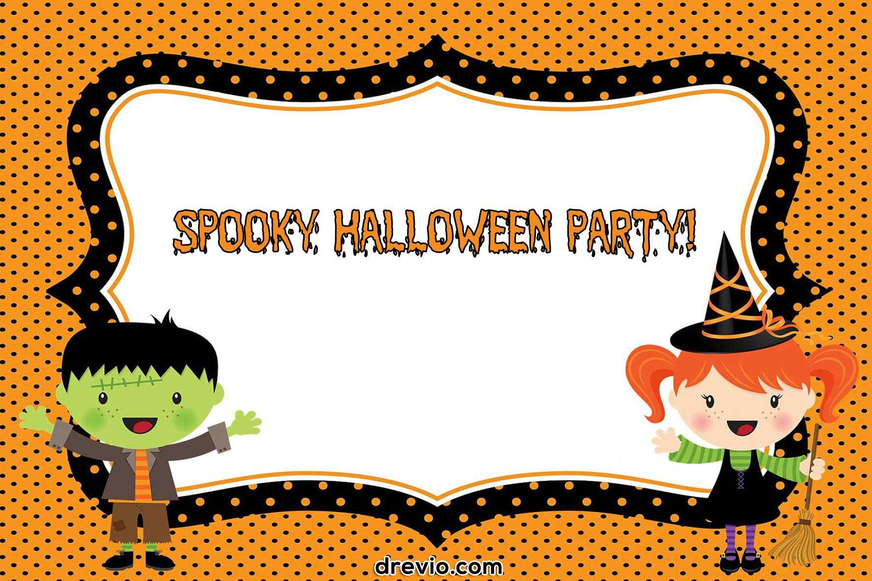 Nice Free Printable Halloween Birthday Party Invitations | FREE ...