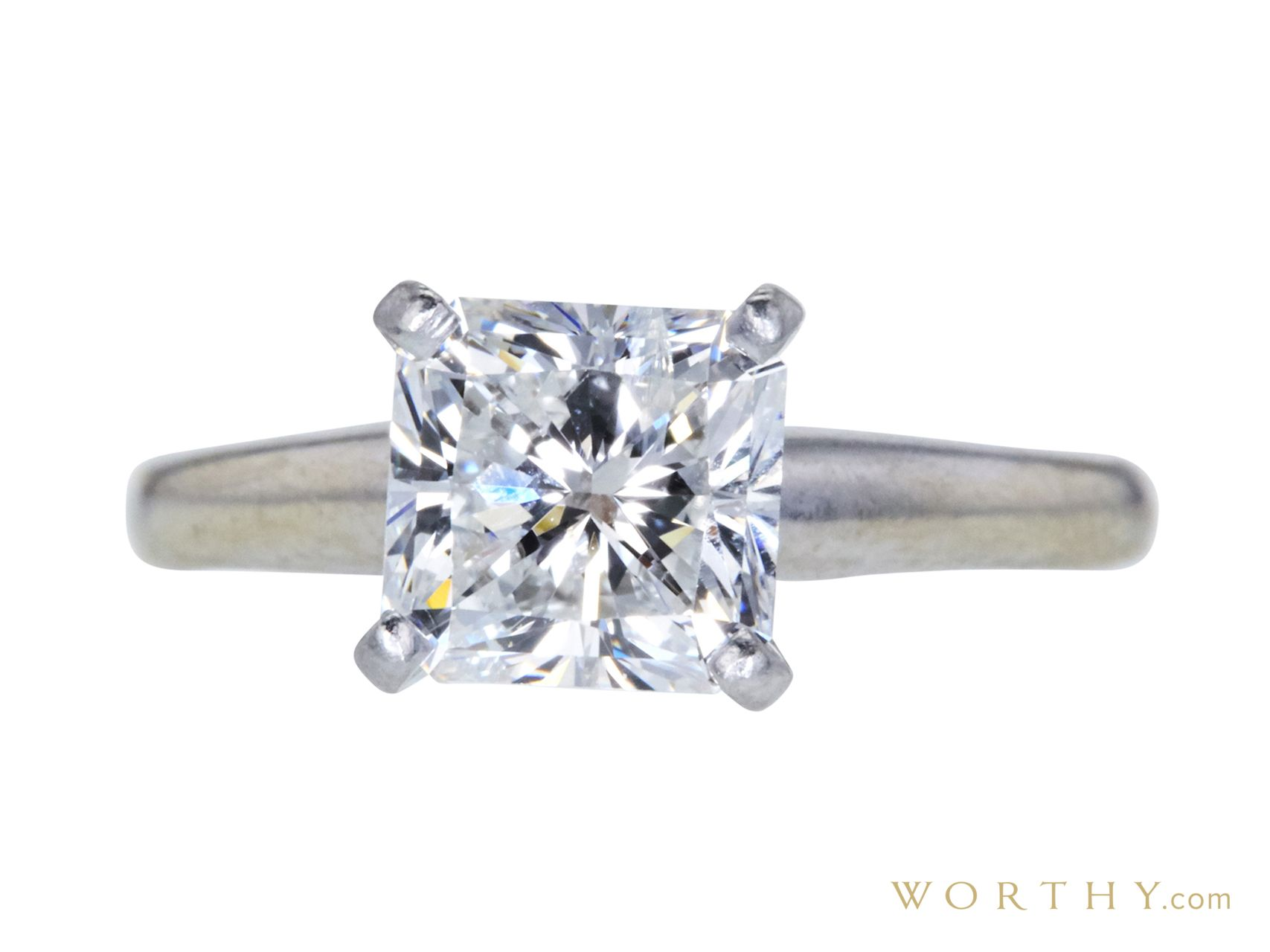 GIA 2.01 CT Radiant Cut Solitaire Ring Sold at Auction for $4,916