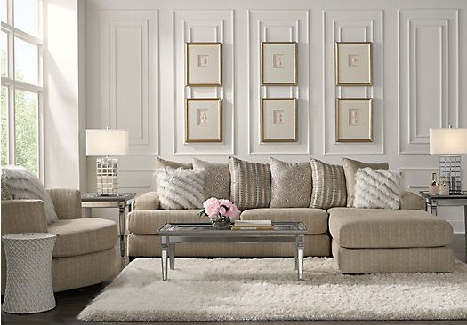 Best Thessaly Beige 3 Pc Sectional Living Room Living Room 640 x 480