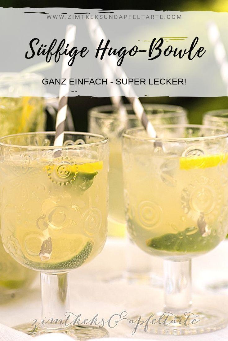 Fruchtig frische Holunderblüten-Bowle - Hugo-Bowle #drinks