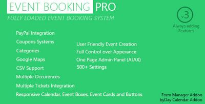 Event Booking Pro v3.72 – WP Plugin [paypal or offline]