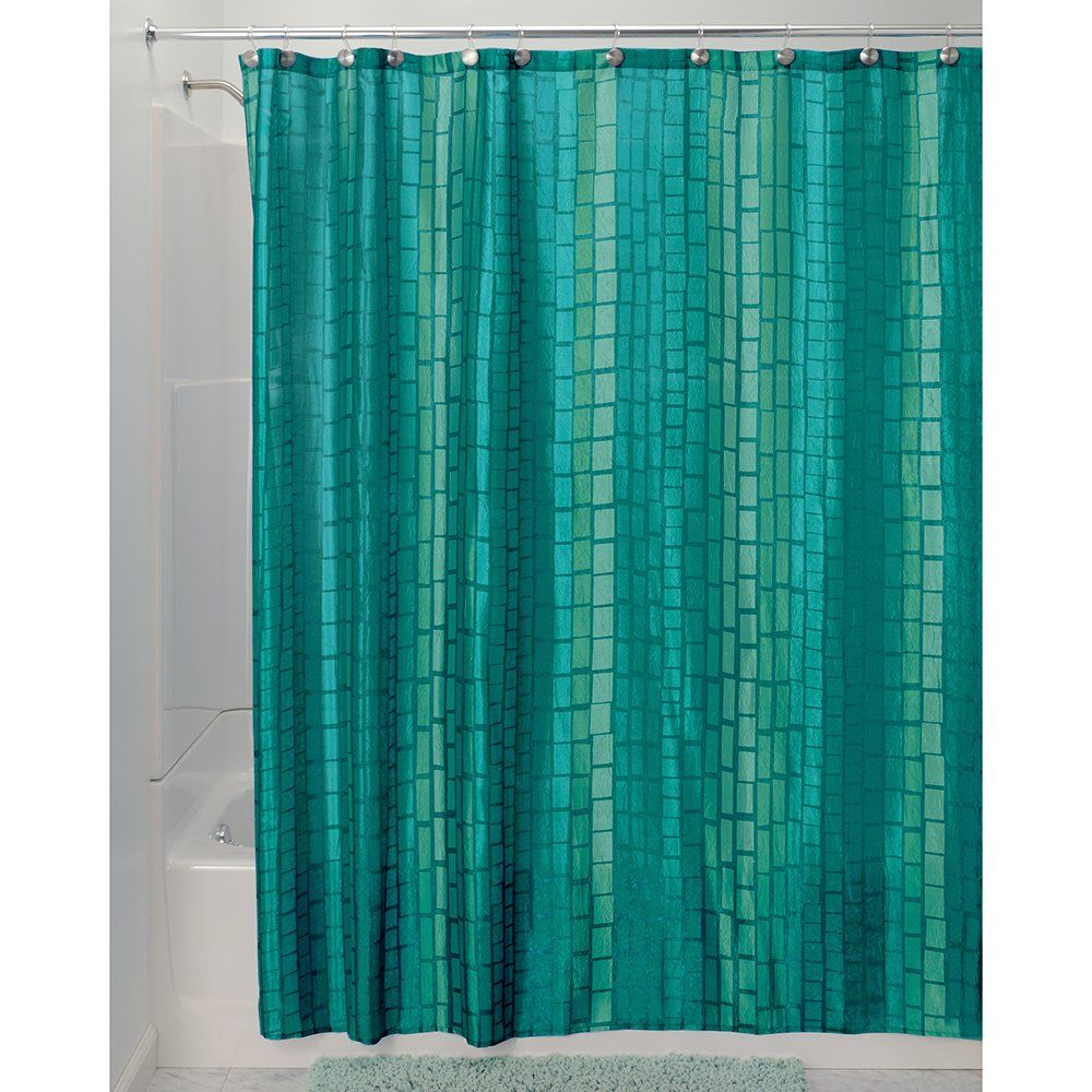 Under the sea peva shower curtain blue walmart com - Interdesign Moxi Fabric Shower Curtain Aquamarine 72 Inch By 72 Inch