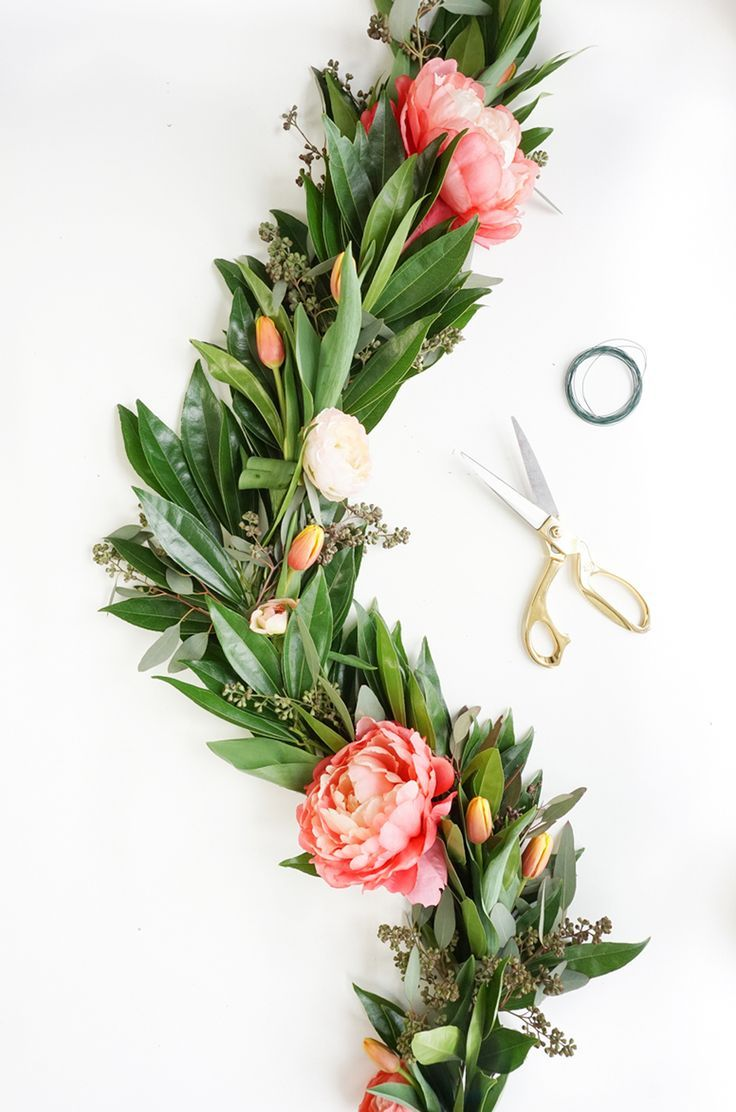 DIY Floral Chandelier Garland images