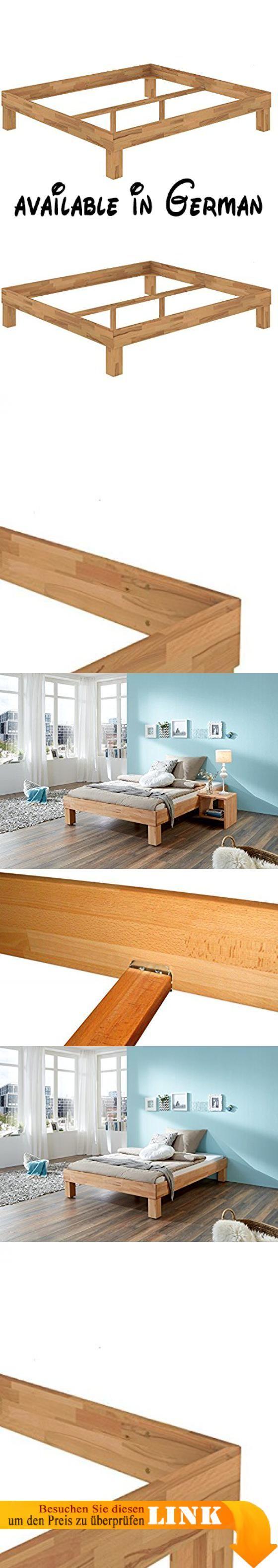 B01MXOUI3N : Französisches Bett Doppelbett 140x200 Bio Buche geölt ...