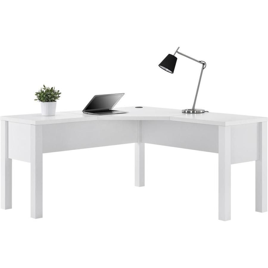 Ameriwood Home Princeton L Shaped Desk White Lowes Com In 2020 White L Shaped Desk L Shaped Desk White Computer Desk