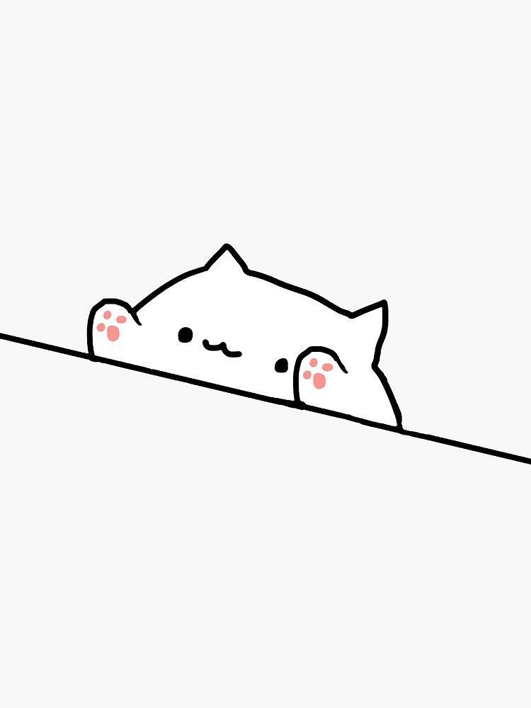 Bongo Cat Sticker By Stertube Cute Little Drawings Mini Drawings Easy Doodle Art