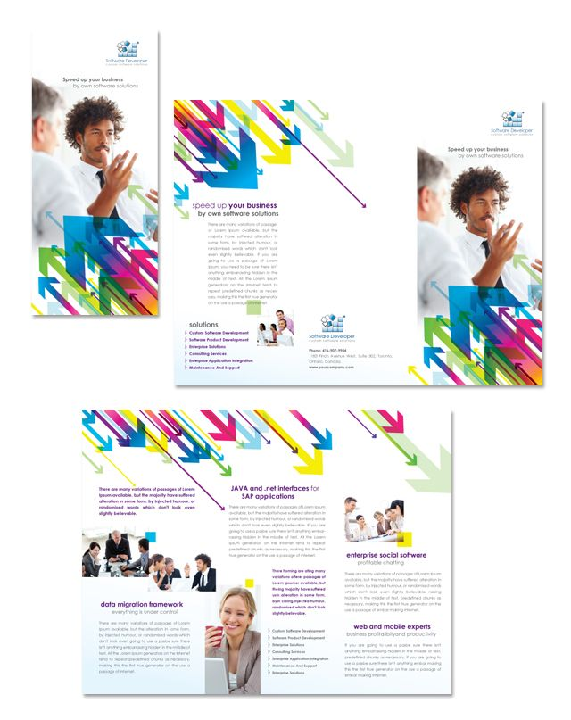 Software Developer Tri Fold Brochure Template HttpWwwDlayouts