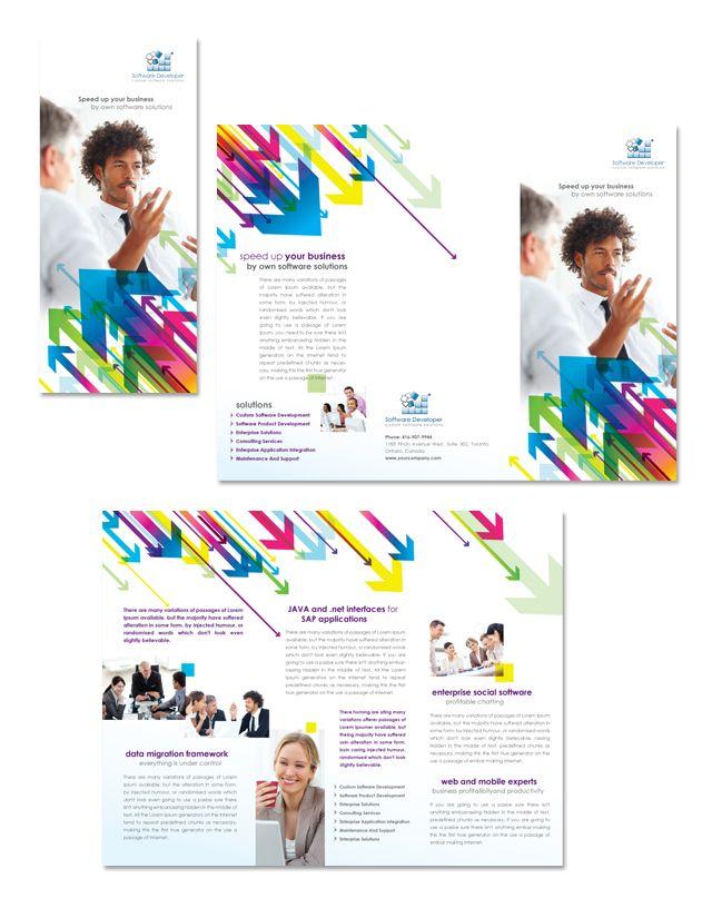 Software Developer Tri Fold Brochure Template Httpdlayouts