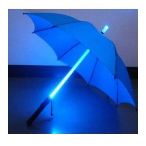 Led Umbrella Features: LED Light Umbrella -Blue With Blue Lighted Rod