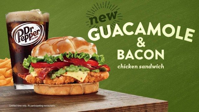 Jack In The Box Guacamole Bacon Chicken Sandwich