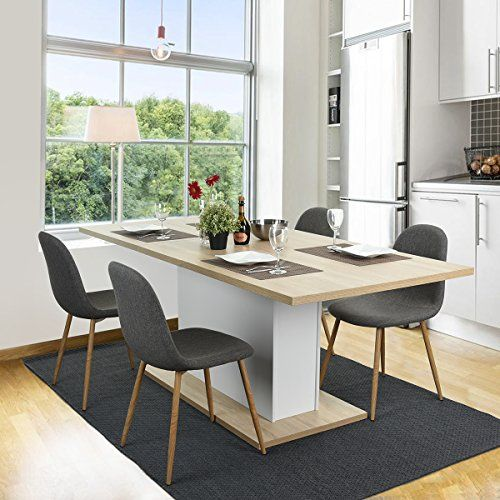 Homycasa Beech Extendable Rectangular Dining Table Mltif - Extendable beech dining table