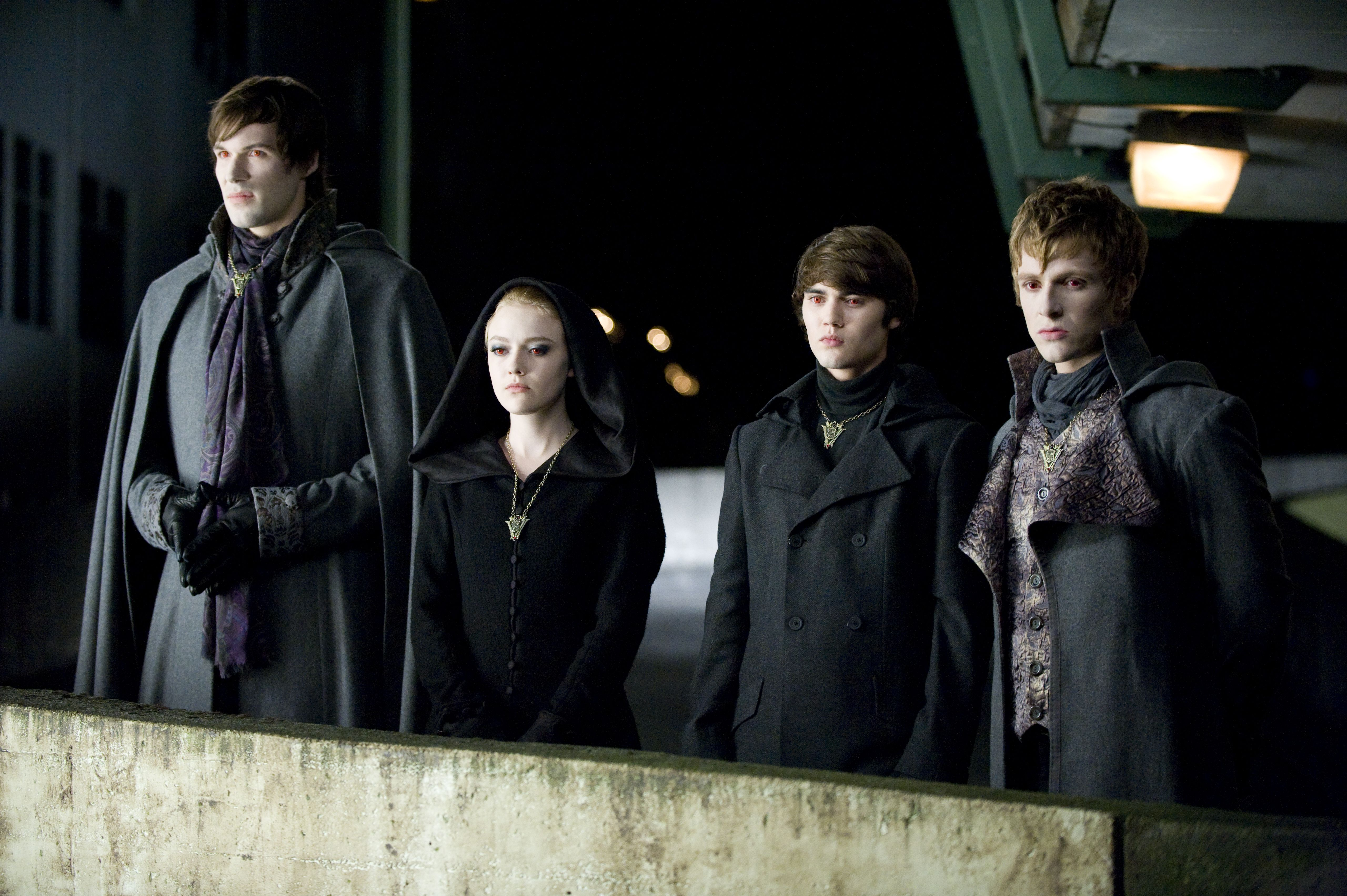 Felix, Jane , Alec and Demetri - The Volturi watch the