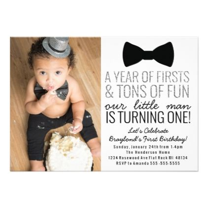 Little Man First Birthday Invitation - invitation card for ist birthday