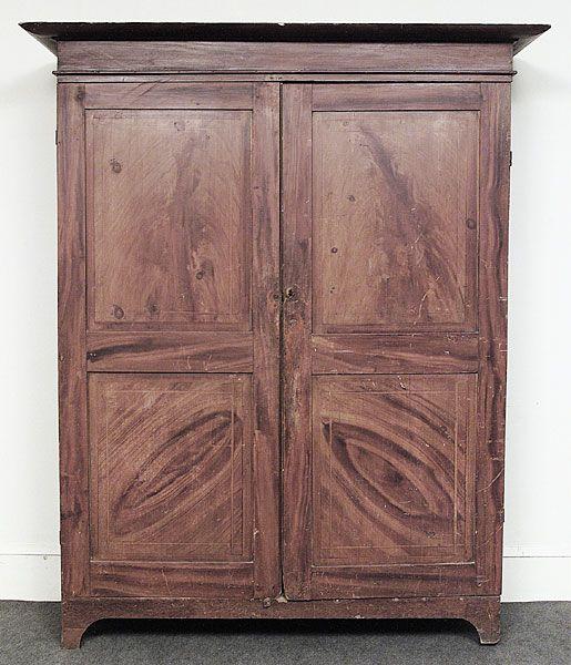 Louisiana Armoire Faux Bois Cypress And Pine Cabinet Circa 1830 50 Furniture Accessories Pine Cabinets Decor