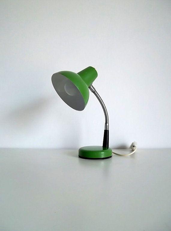 Vintage desk lamp Metal desk lamp Italian lamp green lamp – Old Desk Lamps