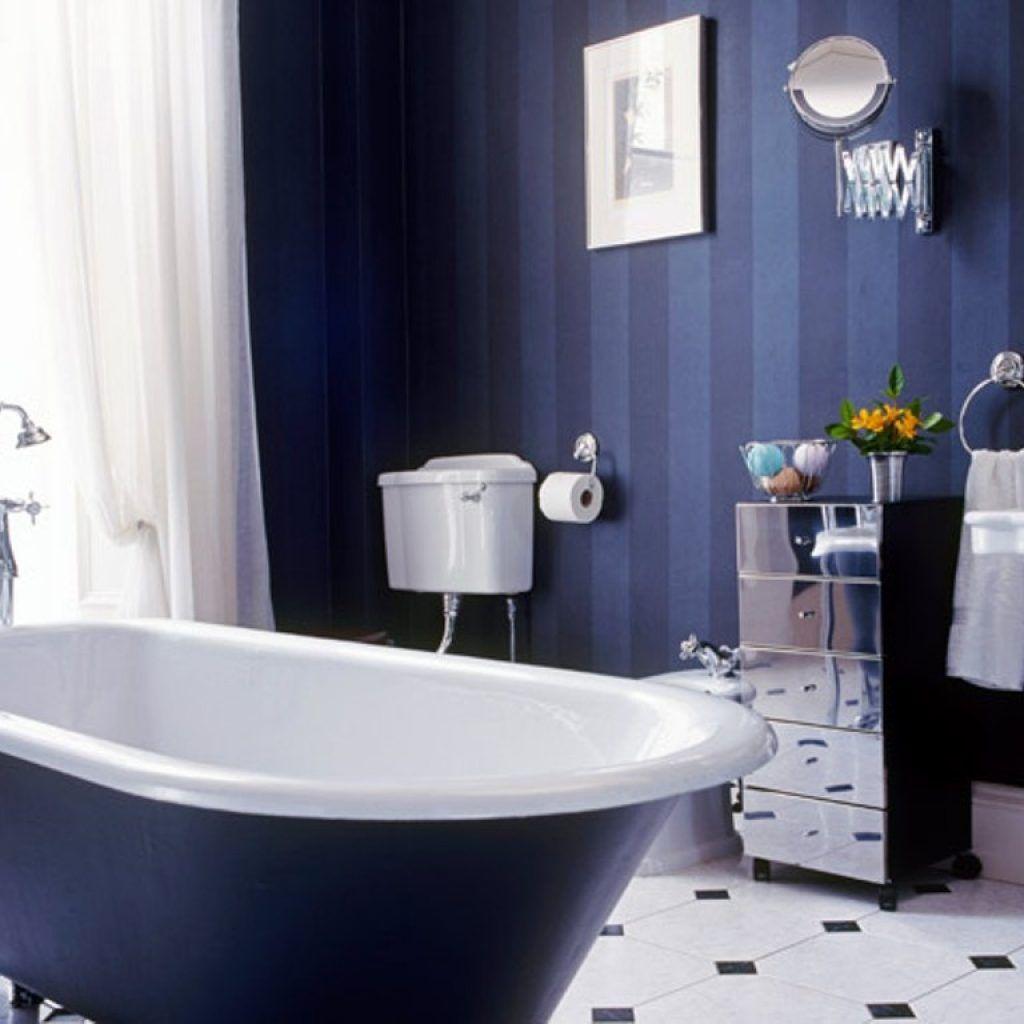 Royal Blue And Silver Bathroom Decor Blue Bathroom Decor Dark