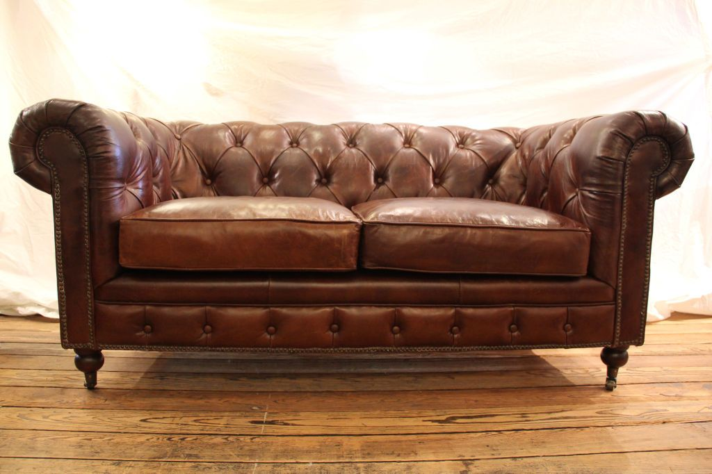 Vintage Chesterfield Sofa Brown Google Search Small Leather