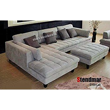 3pc Contemporary Grey Microfiber Sectional Sofa Chaise Ottoman S168LG |  Sofas | Pinterest | Ottomans, Contemporary And Front Rooms