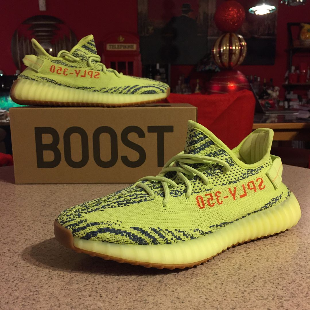 46137b35b1331 Adidas Yeezy Boost 350 Semi-Frozen Yellow