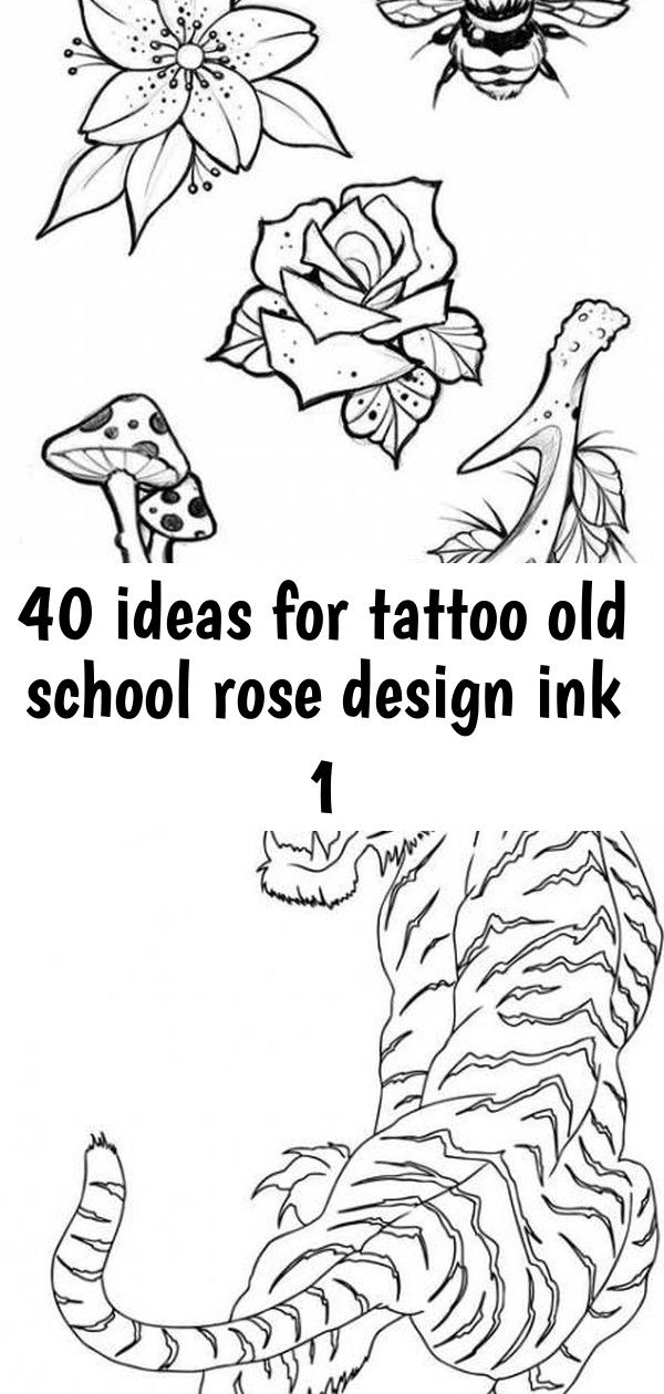 40 ideas for tattoo old school rose design ink 1