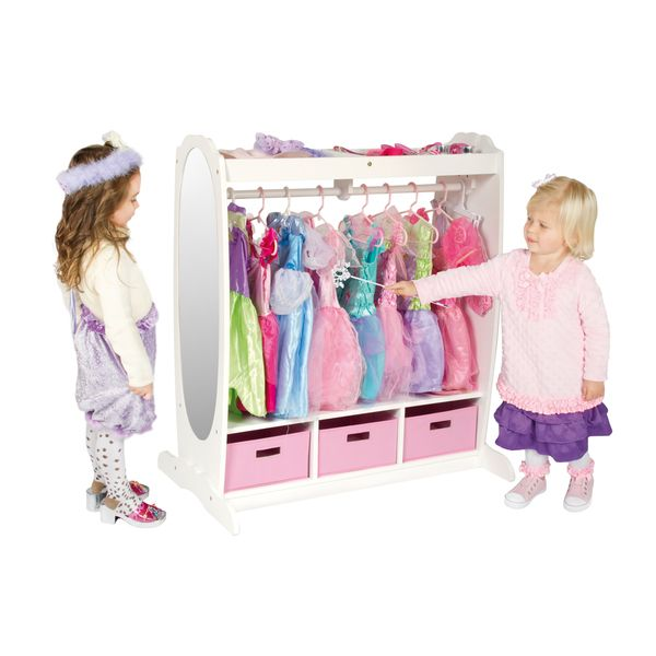 Captivating Guidecraft Dress Up Storage Center In White