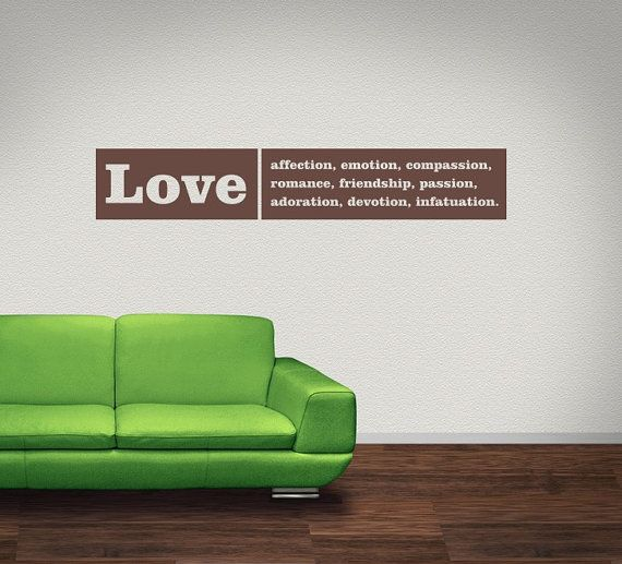 Wall Decal Love Words Expressions Sayings Quotes Typography