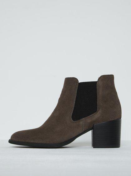 39aef0537106 Zateplené kožené topánky na hrubej podrážke béžové CnB