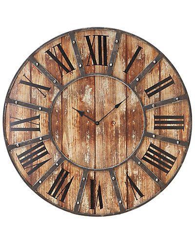 Rue La La — Wood Clock